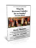 What Do Recusant Catholics Do On Sunday? (single CD)